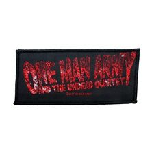 One Man Army And The Undead Quartet Logo Patch Metal Band Woven Sew On Applique