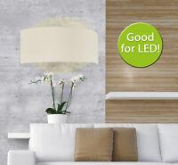 Wandlampe mit Stoffschirm weiß creme Wandleuchte mit Textilschirm Lampe Flur