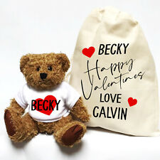 Valentines Day Teddy Bear | Personalised | With Gift Bag