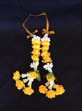 Car Hanging Thai Jasmine Garland Phuang Malai Yellow And White