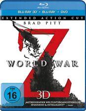 3D Blu-ray *  WORLD WAR Z  -  3D +2D+DVD - Brad Pitt - Marc Forster # NEU OVP =