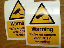 Advertencia estás en Cámara Cctv Casa Garaje Taller seguridad pegatinas 2 frente a 125 mm