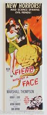 Fiend Without a Face FRIDGE MAGNET (1.5 x 4.5 inches) insert movie poster horror