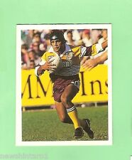1993 SELECT RUGBY LEAGUE  STICKER  #34 STEVE RENOUF, BRISBANE BRONCOS