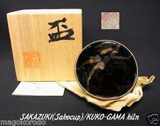 o4200,JPN,DAISEN ware,Toshiyuki Suzuki,Pure steel glaze SAKE CUP.