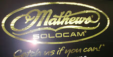 "Mathews Mirror gold oval decal 20"" x 10"""