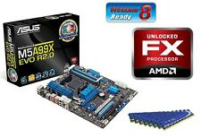 AMD FX-6300 SIX Core VISHERA CPU ASUS MOTHERBOARD 8GB DDR3 MEMORY RAM COMBO KIT