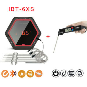 Inkbird Rechargeable  Digital Bluetooth meat Thermometer IBT-6XS + Fast Read