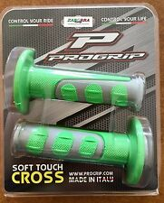 COPPIA MANOPOLE PROGRIP 793 ENDURO CROSS DUAL DENSITY VERDE GRIGIO KAWASAKI BETA