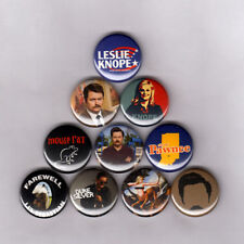 """PARKS AND RECREATION 1"""" PINS BUTTONS (ron swanson bacon knope mouserat rec shirt"""