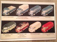 VW Bus Lineup PostCard 1st On eBay Car Poster. Own It!
