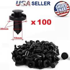 100 Pcs Bumper Clips 10mm Hood Fender Push Rivets Retainer Fasteners for Honda (Fits: Honda)
