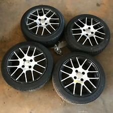 4x VW Lupo 6x Polo 6N DBV Alufelgen 7x15 ET37 LK 4x100 Reifen 195 45 R15 6-7mm