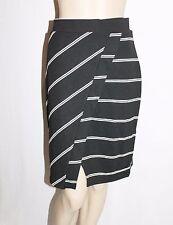 Katies Designer Black White Panel Wrap Skirt Size S BNWT #SZ71