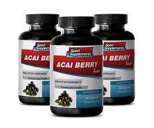 Botanical Slimming Caps - Acai Berry Lean 550mg - Organic Acai Berry Powder 3B