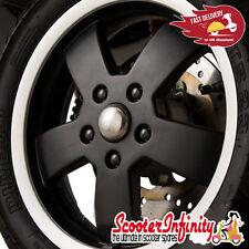 Wheel Nut / Stud Cover (Nuts, Studs) (Black) (12 pcs) Vespa GTS/GTV/ET2/ET4/LX