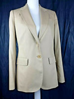 Talbots Blazer Jacket Light Brown Career NWT $169 Grace Fit Size 6 Two Button