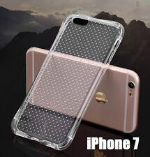 For iPhone 7 / 8 - Transparent Clear Anti-Shock TPU Rubber Gummy Skin Case Cover