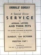 1958 Service For Animal Lovers At Preston Park Rev Daking-goodenham