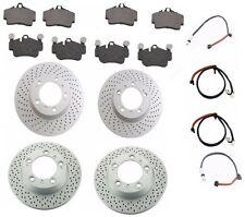 Porsche Cayman-S Front & Rear Friction Brake Kit Rotors, Pads & Wear Sensors