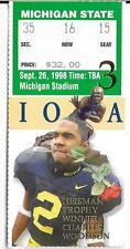 MICHIGAN vs MICHIGAN STATE - September 26 1998  Ticket Stub - CHARLES WOODSON
