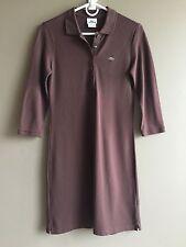 LACOSTE Sz 38 US M Brown Pique Polo Shirt Dress