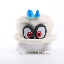 "Nintendo Super Mario Odyssey White Cappy Normal Form 8"" Plush Toy Stuffed Doll"
