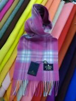 100% Pure Cashmere Scarf | The House of Balmoral | Fuchsia Thompson | Bright