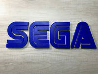 HUGE 15 inch SEGA Video game logo sign (man cave, game room, wall art, decor, de