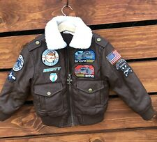 Disneyland Cars Land Boys Bomber Leather Jacket Sz 2/3