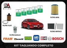 KIT TAGLIANDO ALFA ROMEO 159 1.9 JTDM 16V 150CV 110KW DAL 09/2005 + SELENIA 5W30