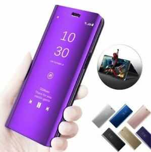 Huawei P30 P20 Mate20 lite/Pro - Flip Leather 360° Smart Mirror Clear View Cover