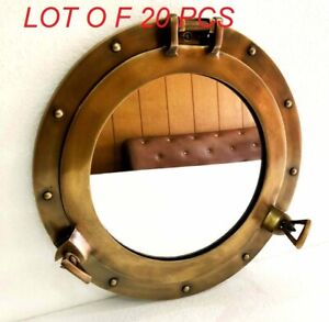 "Nautical vintage 12"" mirror porthole antique wall hanging home decor gift"