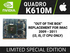 APPLE IMAC 2009 2010 2011 Nvidia Quadro K610M 1GB Graphics Card 745325-001 (022)