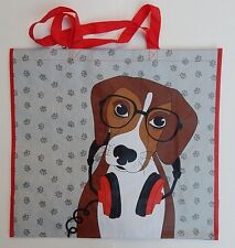 REUSABLE SHOPPING TRAVEL TOTE BAG DOG ECO FRIENDLY TJMAXX NEW