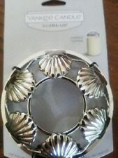 59227 Tealight Holder Seashell Poly Silver Antique Finish Clam 10cm