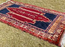 "Exclusive Antique 4'7""×8'6"" Naturel Dyes,Lambs Wool Pile Tribal Rug"