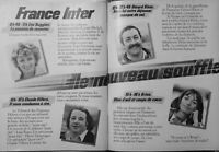 PUBLICITÉ DE PRESSE 1981 FRANCE INTER AVEC GÉRARD KLEIN RUGGIERI C.VILLERS KRISS