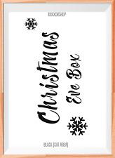 Christmas Eve Box A4 Mylar Reusable Stencil Airbrush Painting Art