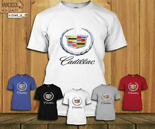 Rare Cadillac T-shirt sport logo otomotif car casual, Men's T-Shirt Size USA