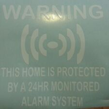 Home Security 24 hr Alarm Vis System Warning Security Signs Stickers Car Windows