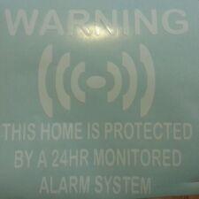 Home Security 24 HR ALLARME VIS sistema di allarme sicurezza segni ADESIVI AUTO FINESTRE