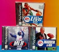 NBA Live, MLB, Madden - Playstation 1 2 PS1 PS2 Game Rare Complete MINT DISCS !!