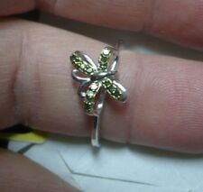 Green Diamond Butterfly Ring Sz.7  14 diamonds .15tcw MSRP$481