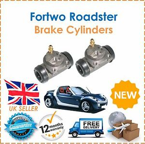 For Smart Fortwo Roadster TWO Rear Brake Cylinder x2 NEW O.E Quality