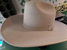 5d8b090d7d4 Bailey Lariat Wester Cowboy Hat 5X Beaver Silverbelly EUC