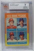 """Graded BVG 7 - 1975 Topps ROOKIE PITCHERS Baseball Card # 615 - PAT DARCY """"A"""""""