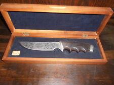 Gerber Model 525 Harley Davidson Commemortive Knife 1497/3000 Wood Case