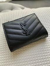 Ysl Yves Saint laurent Monogram Zipped Card Case Wallet With Receipt