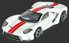 22021 AFX MEGA G PLUS FORD GT WHITE  TOMY AURORA HO SCALE